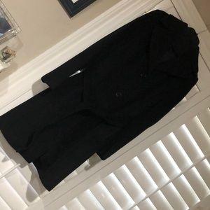 Full length black coat